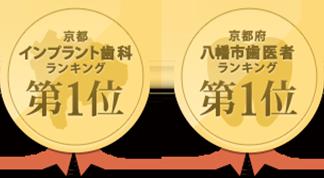 京都インプラント歯科ランキング、京都府八幡市歯医者ランキング第一位